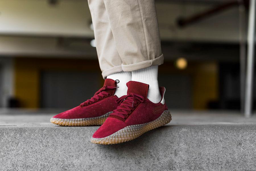 adidas Kamanda Collegiate Burgundy (CQ2219) - On feet