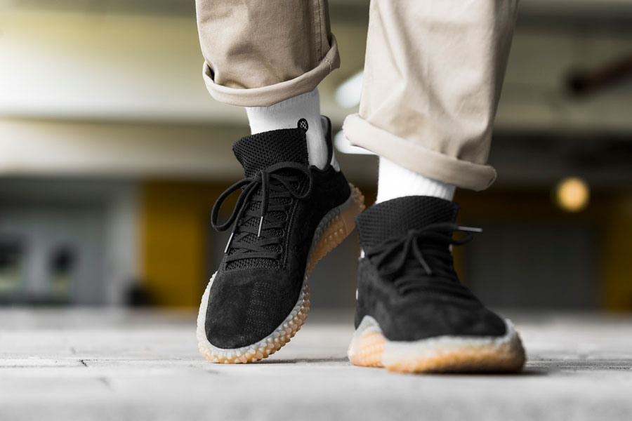 adidas Kamanda Core Black (CQ2220) - On feet (Front)