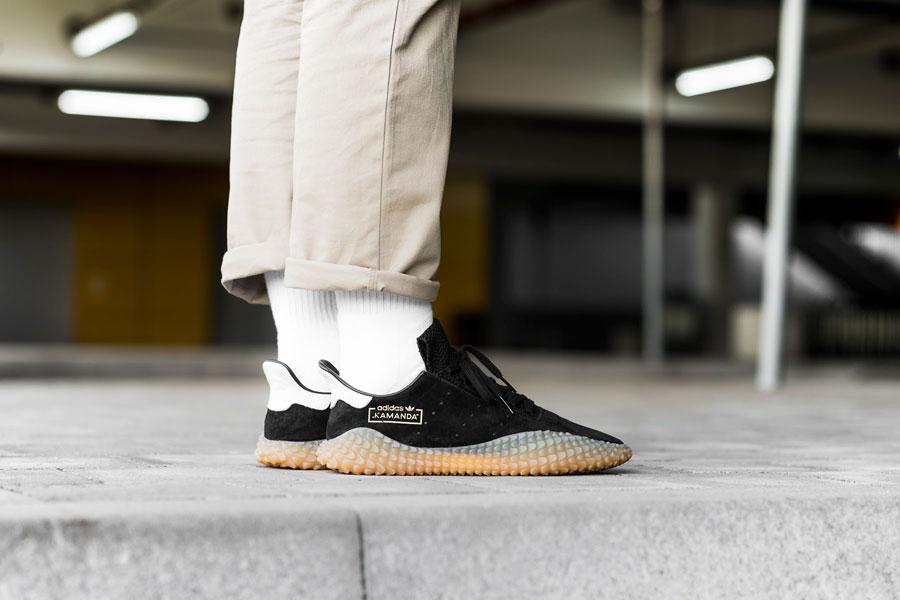adidas Kamanda Core Black (CQ2220) - On feet (Side)