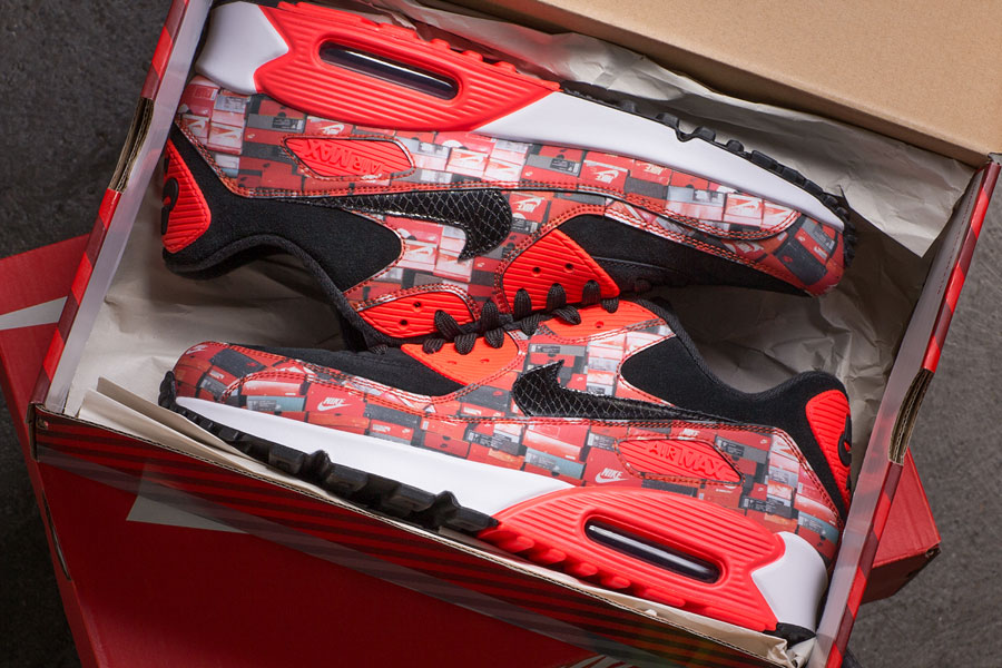 atmos x Nike Air Max 90 WE LOVE NIKE Pack (AQ0926-001) - Mood