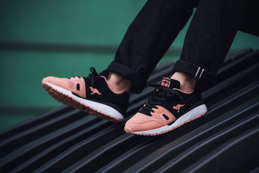 KangaROOS 2018 Spring Summer 2nd Drop - OMNIRUN Black Peach (On feet)