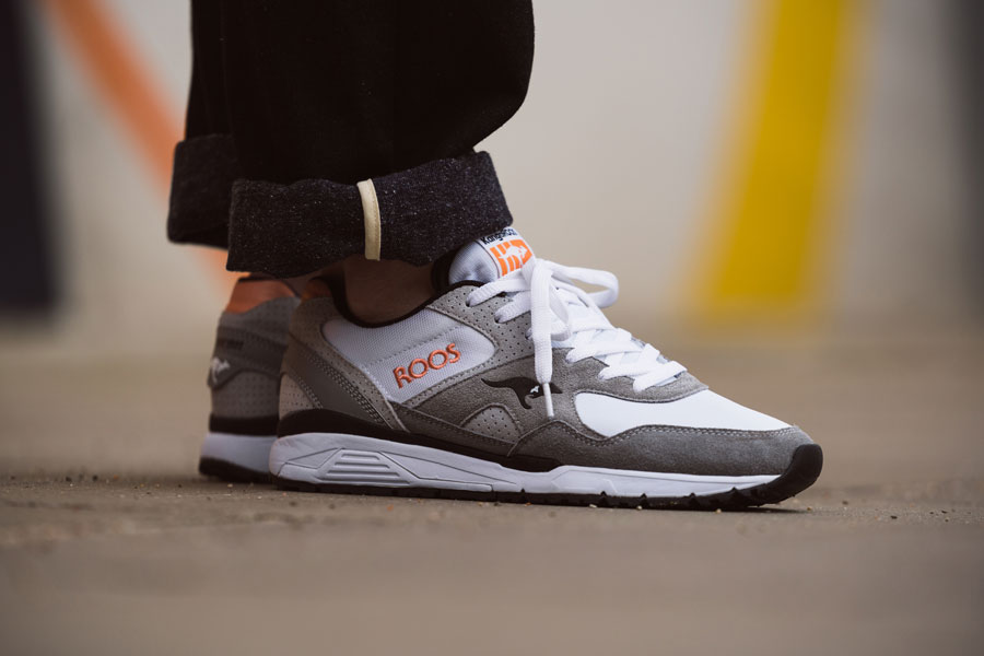 KangaROOS 2018 Spring Summer 2nd Drop - RUNAWAY ROOS 002 Grey Melon (On feet)