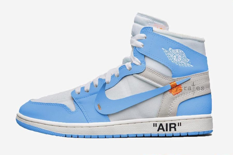 OFF-WHITE x Nike 2018 Releases - Air Jordan 1 UNC (AQ0818-148)