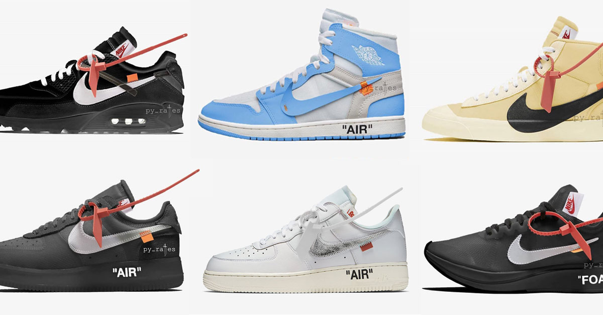 68fae5d89b0c OFF-WHITE x Nike 2018 Releases (Overview)