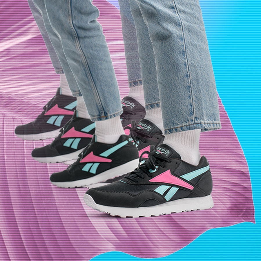 Reebok Rapide OG SU Black Turquoise Pink White (CN6003) - Side