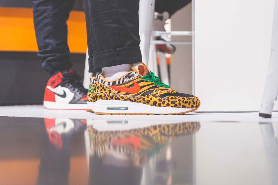SNIPES presents The Customization of the Air Jordan 1 - Recap (Nike Air Max 1 atmos Animal Pack 2.0 On feet)