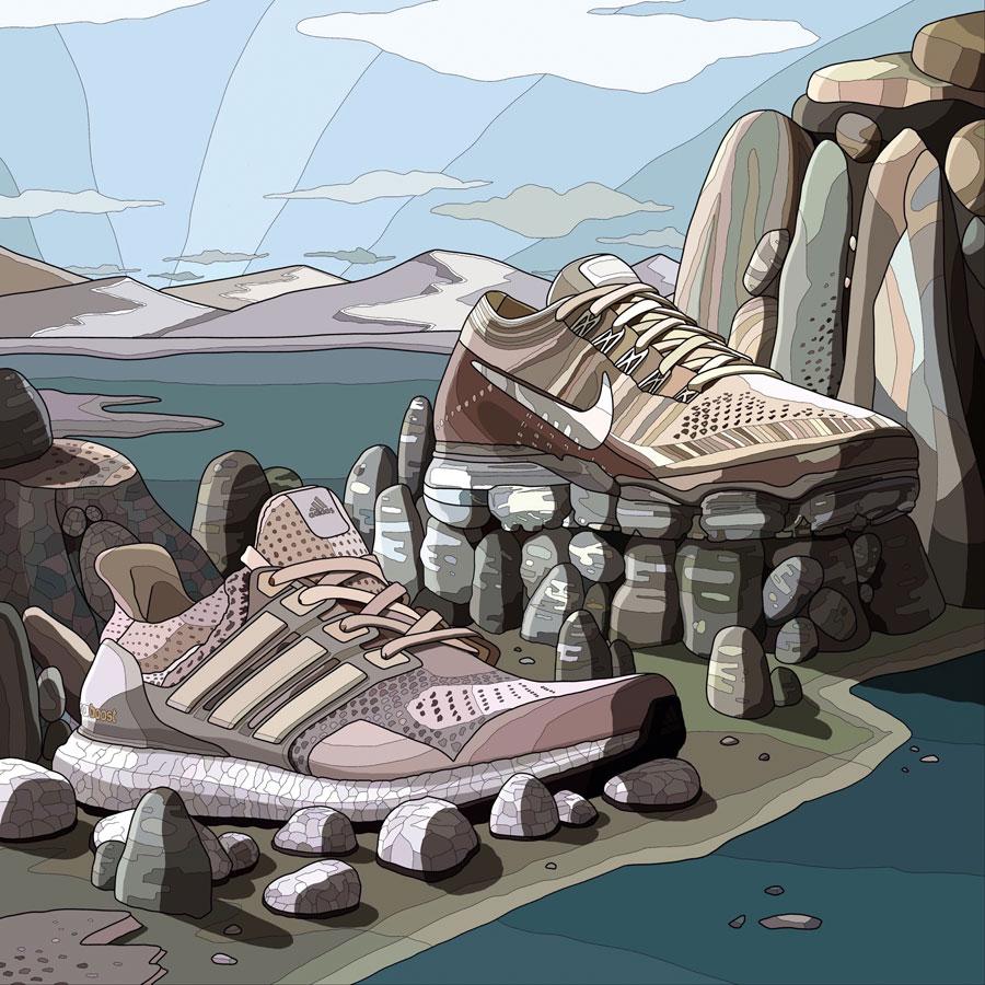 The Art of Laro Lagosta - adidas UltraBOOST Nike Air VaporMax