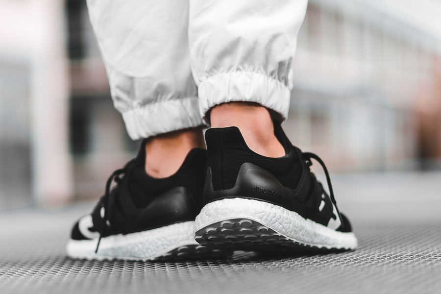 UNDFTD x adidas UltraBOOST Black (B22480) - On feet (Back)