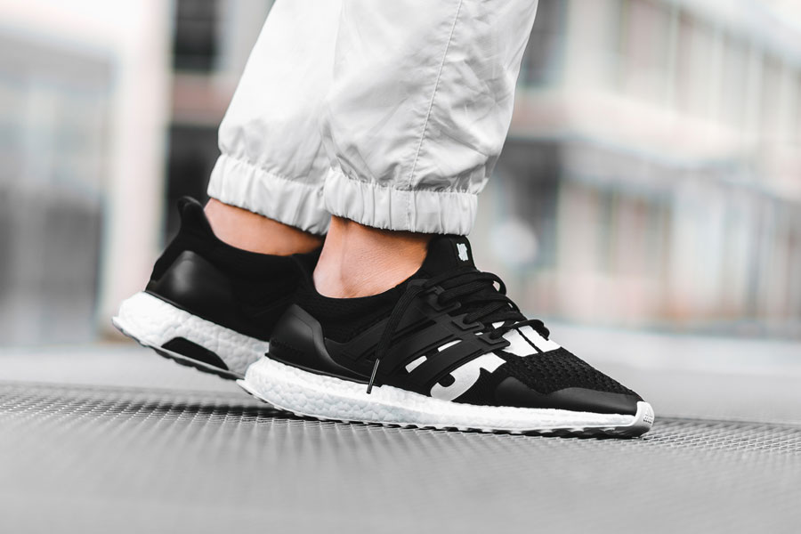 UNDFTD x adidas UltraBOOST Black (B22480) - On feet (Side)