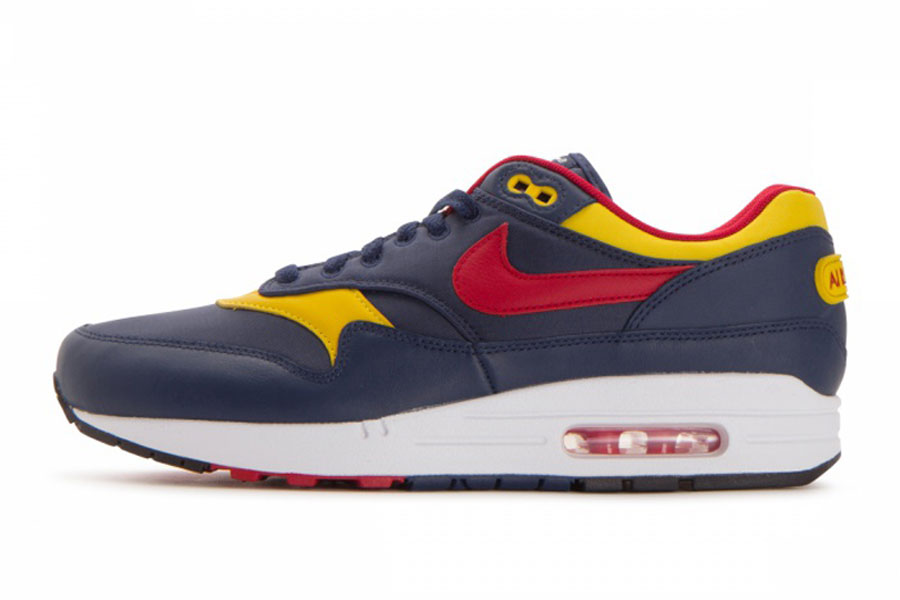 10 Nike Air Max Sneakers for Less Than 100 - Nike Air Max 1 Premium (Navy / Gym Red / Vivid Sulfur)