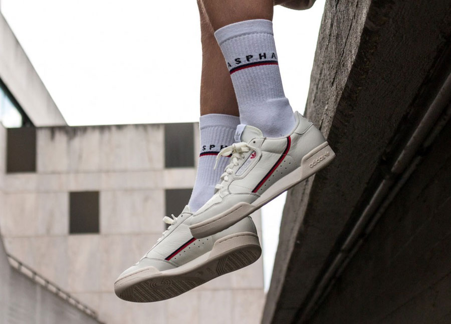 adidas Continental 80 Rascal White Tint (B41680) - On feet