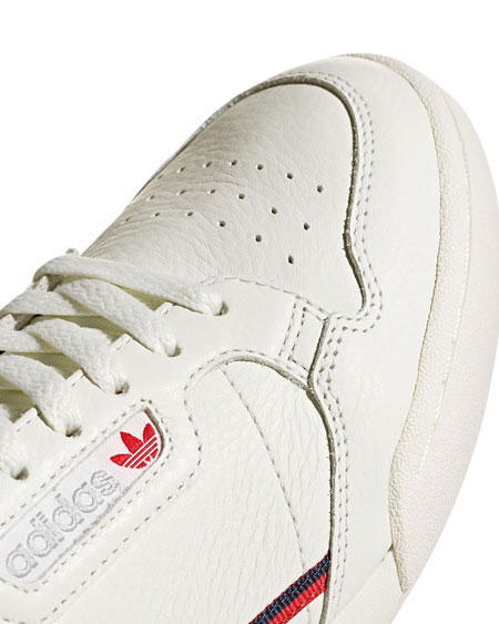 adidas Continental 80 Rascal White Tint (B41680) - Toebox