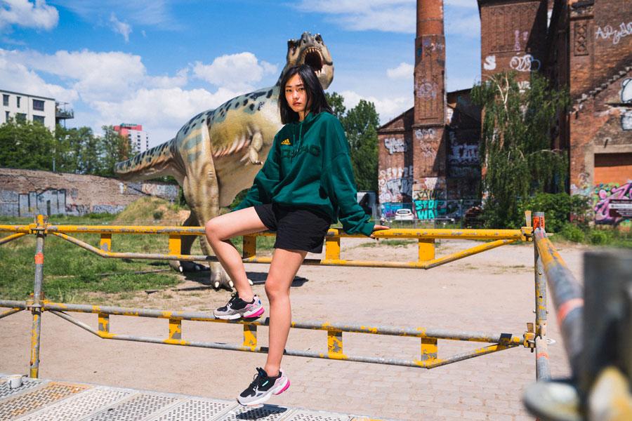 adidas Falcon W (BB9173) - Editorial kickiyangz by kane (Dinosaur 2)