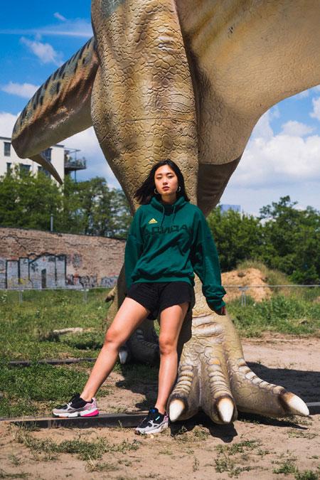 adidas Falcon W (BB9173) - Editorial kickiyangz by kane (Dinosaur 3)
