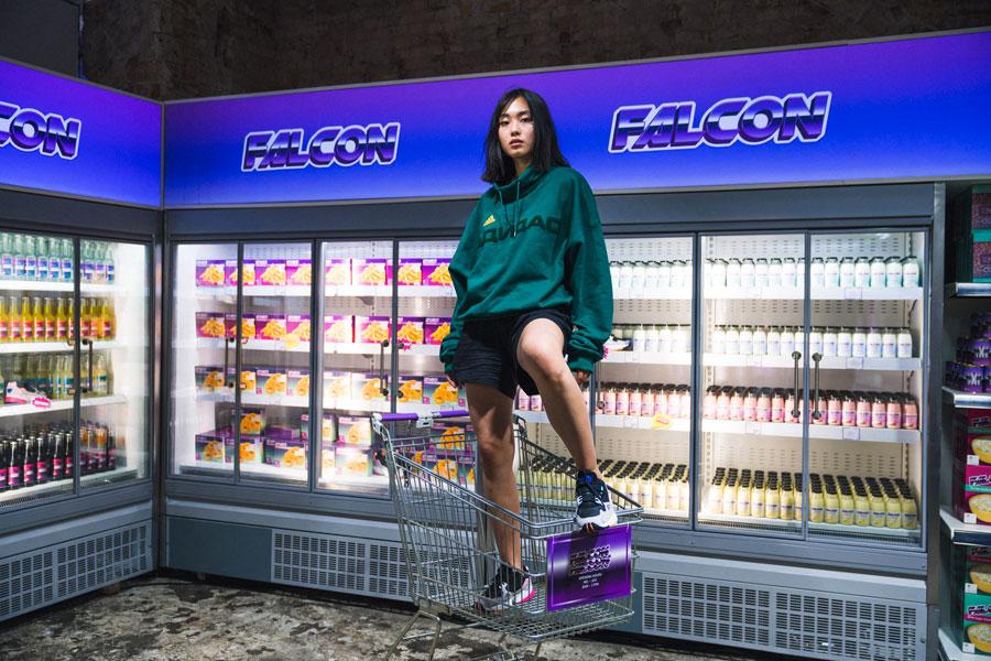 adidas Falcon W (BB9173) - Editorial kickiyangz by kane (Grocery Store 1)
