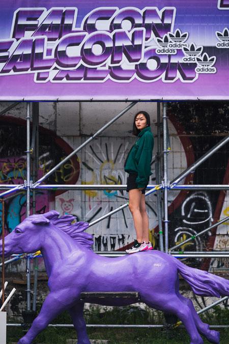 adidas Falcon W (BB9173) - Editorial kickiyangz by kane (Horse 2)