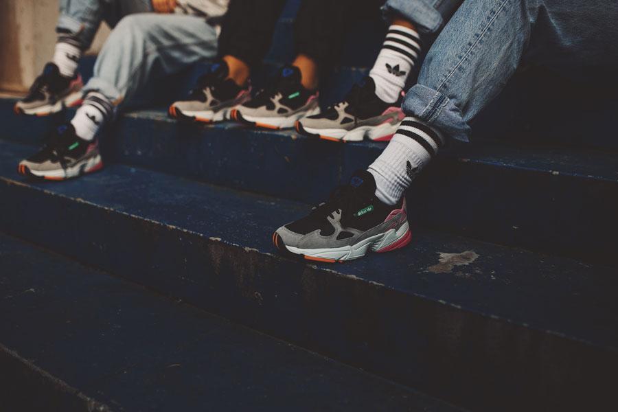 adidas Falcon W (BB9173) - On feet (Group)