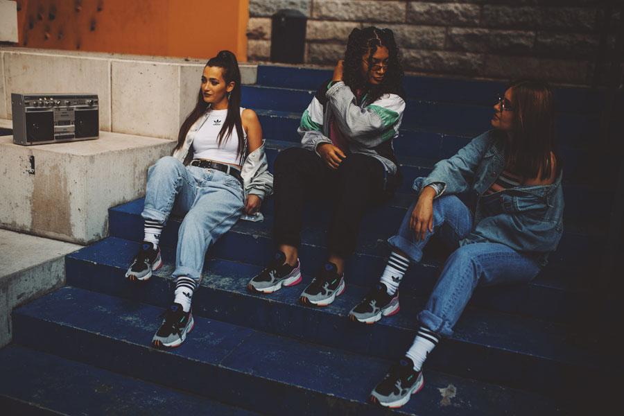 adidas Falcon W (BB9173) - On feet (Mood)
