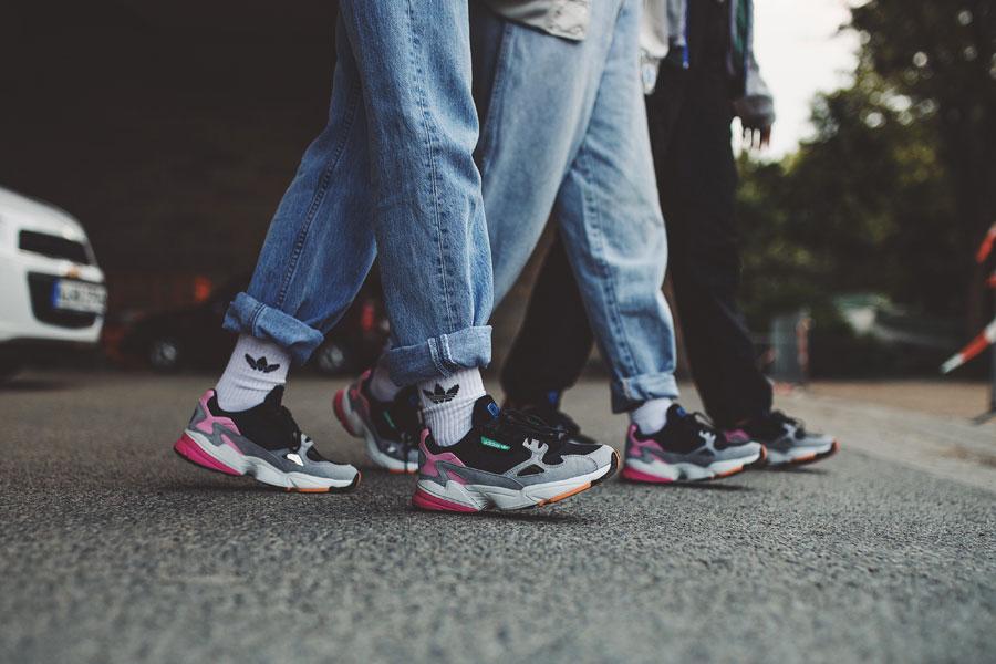 adidas Falcon W (BB9173) - On feet (Side)