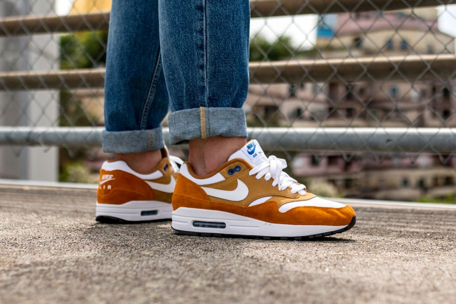wholesale dealer 0c0db 46ed6 atmos x Nike Air Max 1 Curry (908366-700) - On feet (