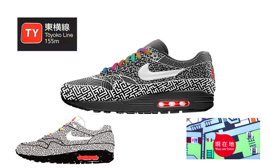 Nike ON AIR Voting - Air Max 1 Tokyo Maze by Yuta Takuman (Design)