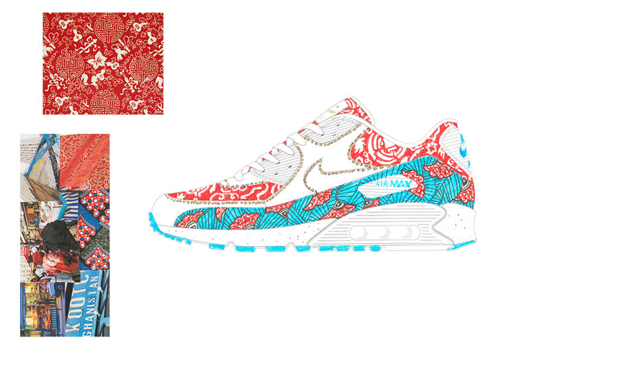 Nike ON AIR Voting - Air Max 90 Age of Gold by Coralie Rabbe (Design)