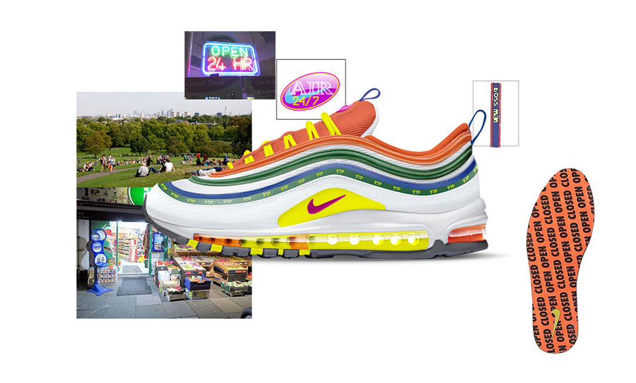 Nike ON AIR Voting - Air Max 97 London Summer of Love by Jasmine Lasode