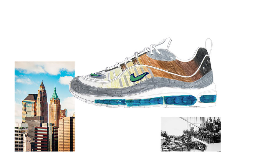 Nike ON AIR Voting - Air Max 98 La Mezcla by Gabrielle Serrano (Design)