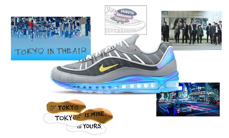 Nike ON AIR Voting - Air Max 98 Tokyo In The Air by Nari Kakuwa