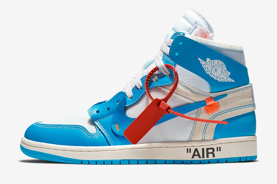 OFF-WHITE x Air Jordan 1 UNC (AQ0818-148) - Side