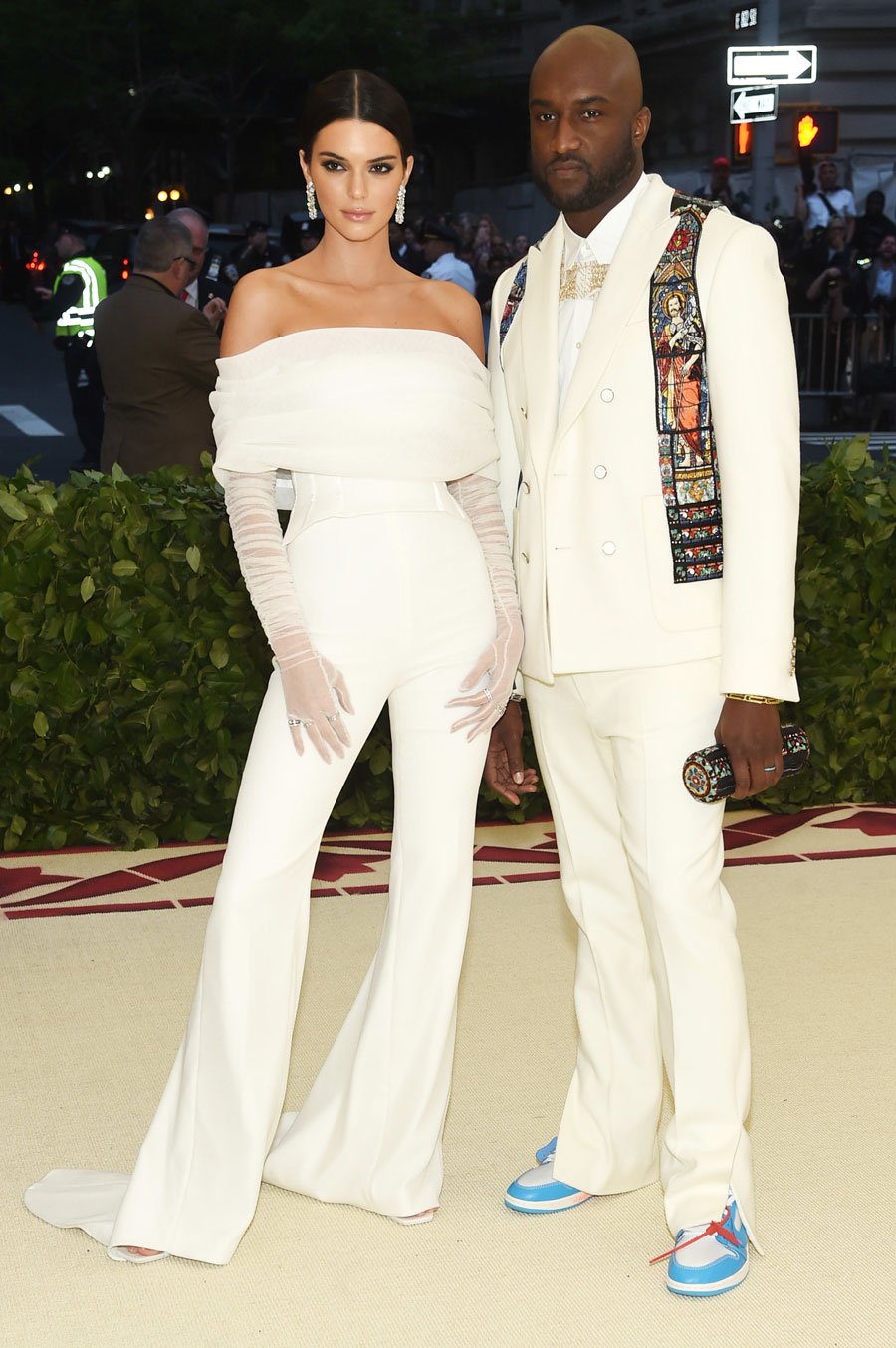 OFF-WHITE x Air Jordan 1 UNC (AQ0818-148) - Virgil Abloh (Met Gala 2018 On feet)