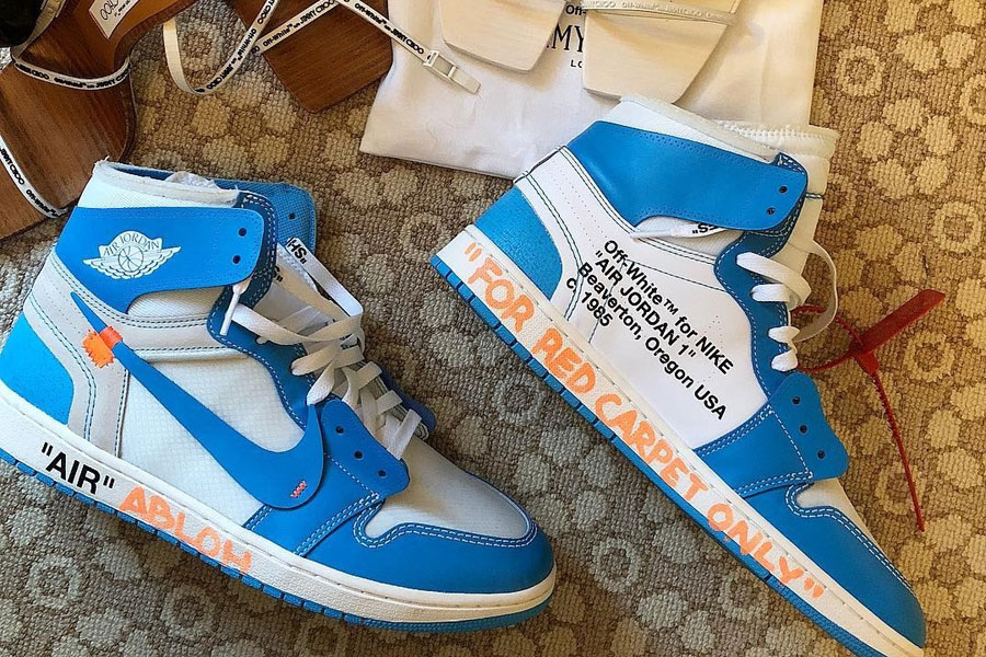 OFF-WHITE x Air Jordan 1 UNC (AQ0818-148) - Virgil Abloh (Met Gala 2018)