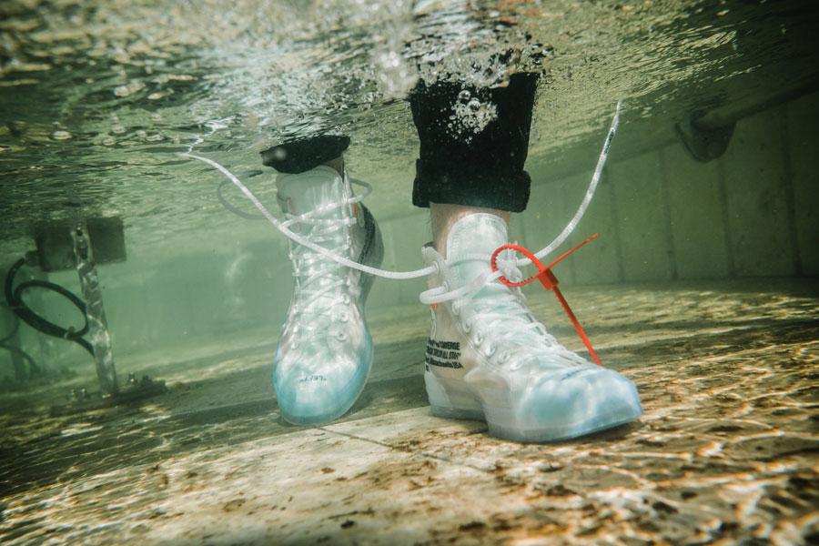 144cbe0231e96d OFF-WHITE x Converse Chuck Taylor (162204C) - On feet