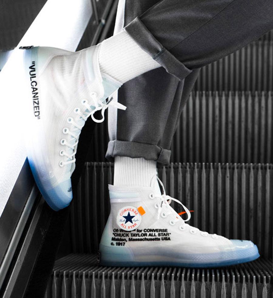 84e5531de1a2f9 OFF-WHITE x Converse Chuck Taylor (162204C) - Overkill (On feet)
