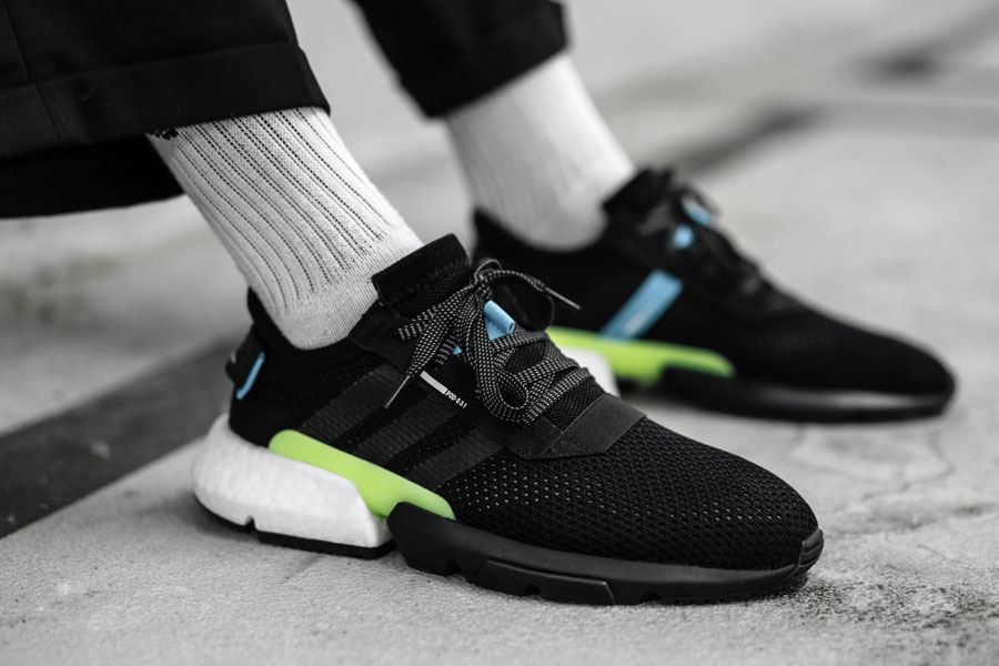 adidas POD-S3.1 Core Black Ftwr White (AQ1059) - On feet (Close)