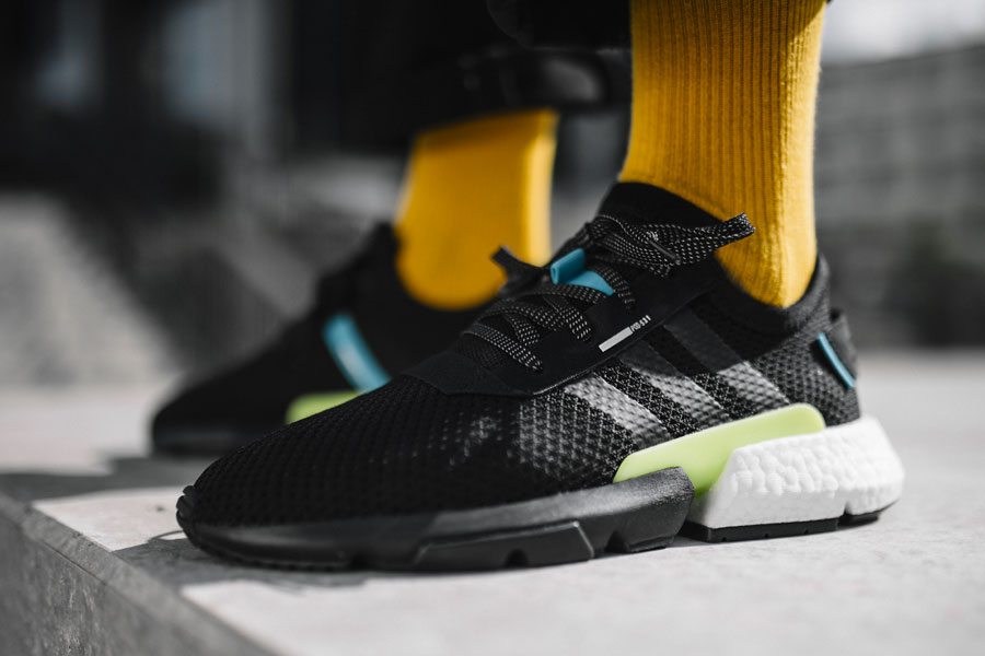 adidas POD-S3.1 Core Black Ftwr White (AQ1059) - On feet (Side)