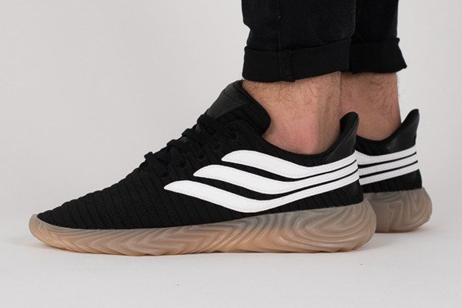 adidas Sobakov Core Black Ftwr White Gum (AQ1135) - On feet (Side)