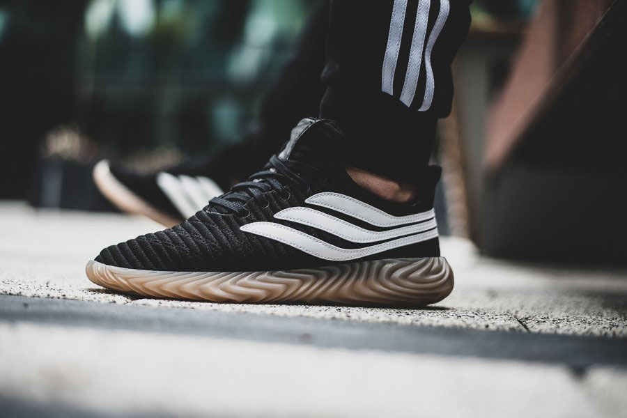 adidas Sobakov Core Black Ftwr White Gum (AQ1135) - On feet
