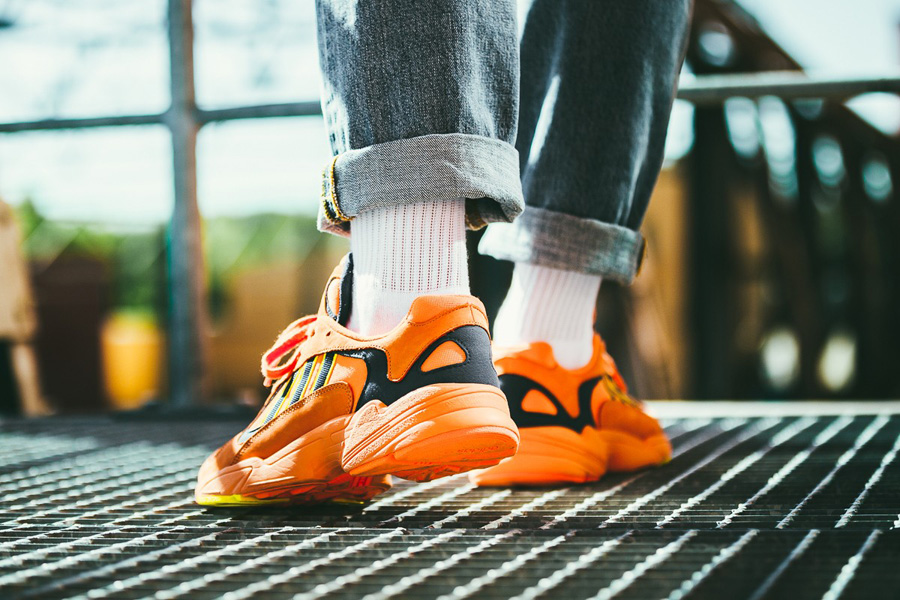 adidas Yung-1 HiRes Orange (B37613) - On feet (Back)