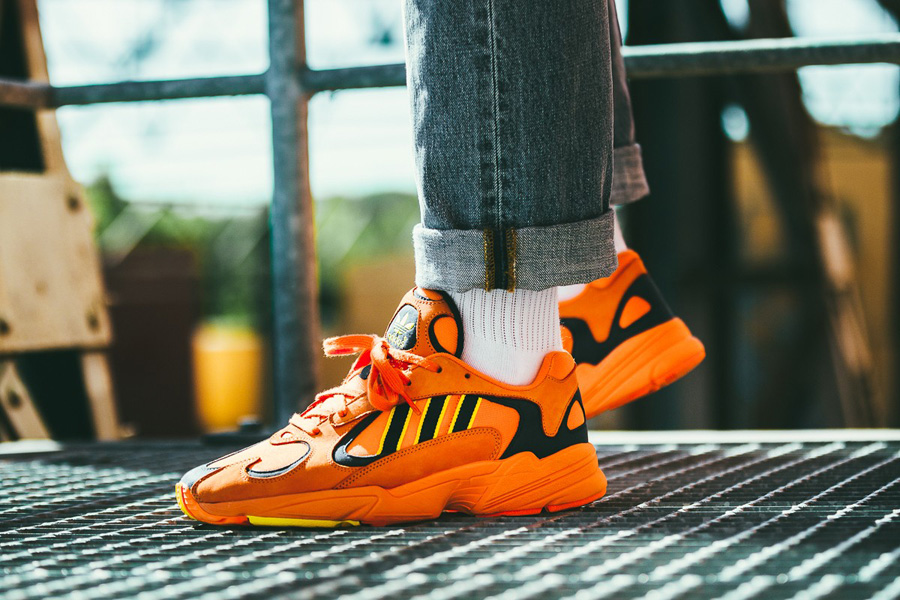 adidas Yung-1 HiRes Orange (B37613) - On feet (Side)