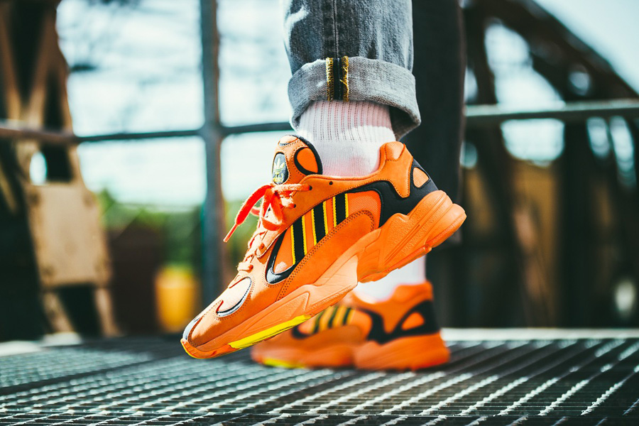 adidas Yung-1 HiRes Orange (B37613) - On feet