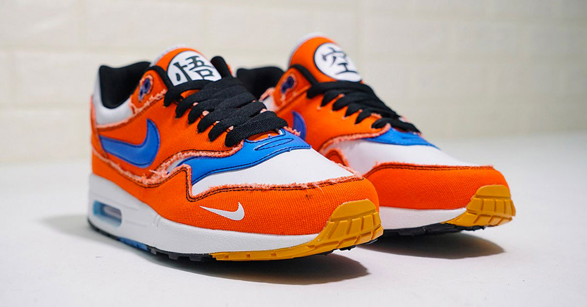 condado Los Alpes Contra la voluntad  Dragon Ball Z x Nike Air Max 1 – Son Goku Custom | Sneakers Magazine