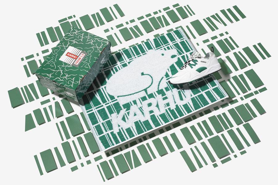 Karhu Fusion 2.0 OG White Ultramarine Green (F804034) - Finlayson Towel
