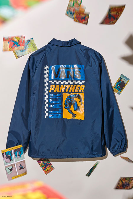 Marvel x VANS OFF THE WALL Collection 2018 - Black Panther Coach Jacket