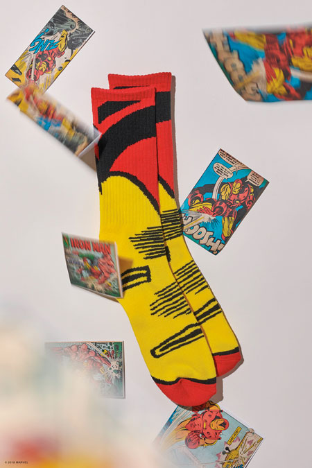 Marvel x VANS OFF THE WALL Collection 2018 - Ironman Socks