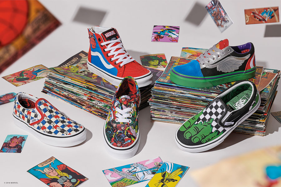 Marvel x VANS OFF THE WALL Collection 2018 - Kids