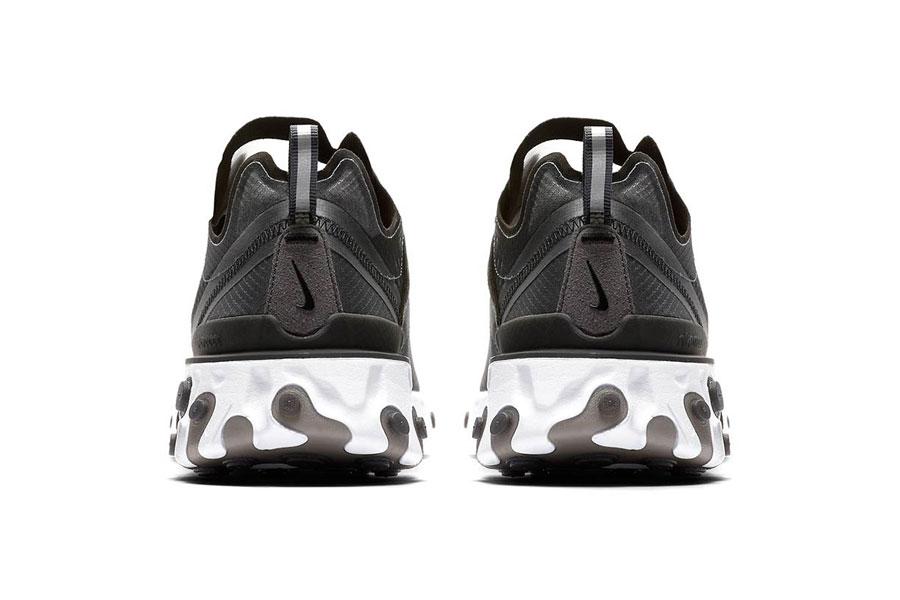 Nike React Element 87 Anthracite Black White (AQ1090-001) - Back