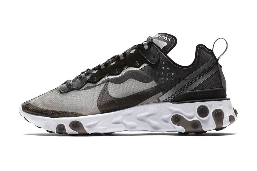 ac6c4a33619131 Nike React Element 87 Anthracite Black White (AQ1090-001) - Left