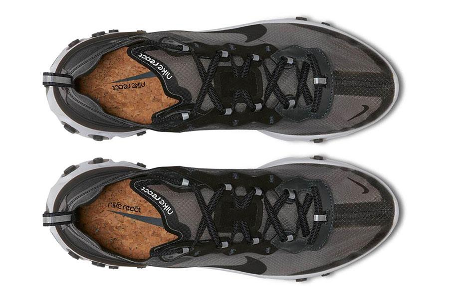 Nike React Element 87 Anthracite Black White (AQ1090-001) - Top