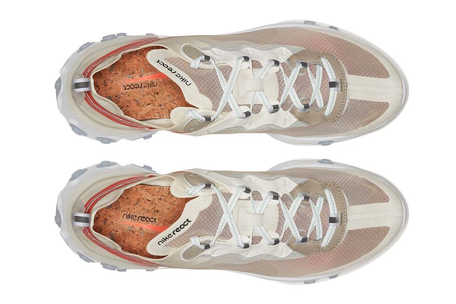 35af05379285 Nike React Element 87 Sail Light Bone White Rush Orange (AQ1090-100) -